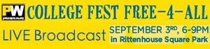 PW College Fest Live Broadcast 9/3 6-9pm