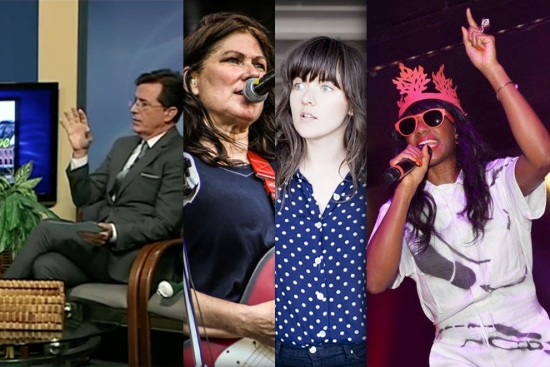 Music News - Stephen Colbert Public Access Show; Kim Deal/Courtney Barnett Interview; New Santigold