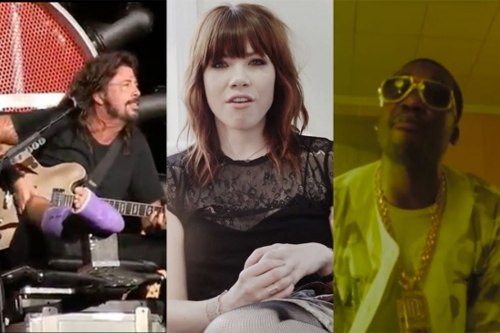 Music News - Dave Grohl Rocks the Throne; Carly Rae Jepsen Making-of Doc; New Meek Mill/Future Video