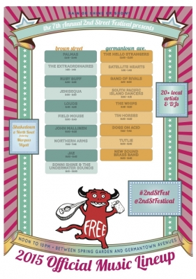 2nd Street Festival Northern Liberties this Sun. Aug. 2; 