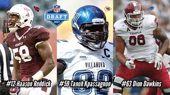 Philadelphia Colleges Represented in First Rounds of NFL Draft 2017; Temple, Villanova Take Stage