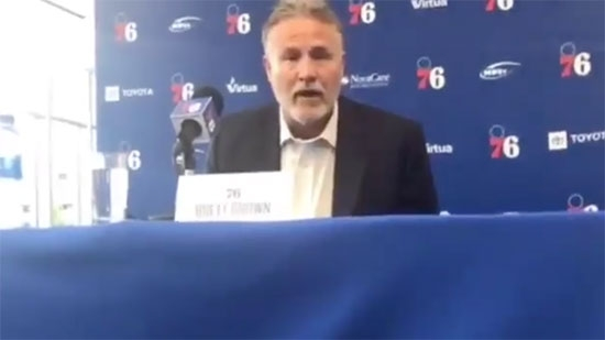 Brett Brown Returning as Sixers Head Coach; Joel Embiid Trademarks 'The Process'