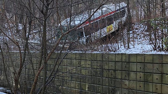 SEPTA Bus Crash Stops Short of Drop into Creek; Man Found Shot on I-295 Bucks; Woman Shot, Critical
